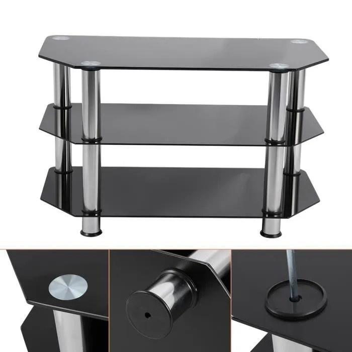 noir verre trempe coin meuble tv 80 42