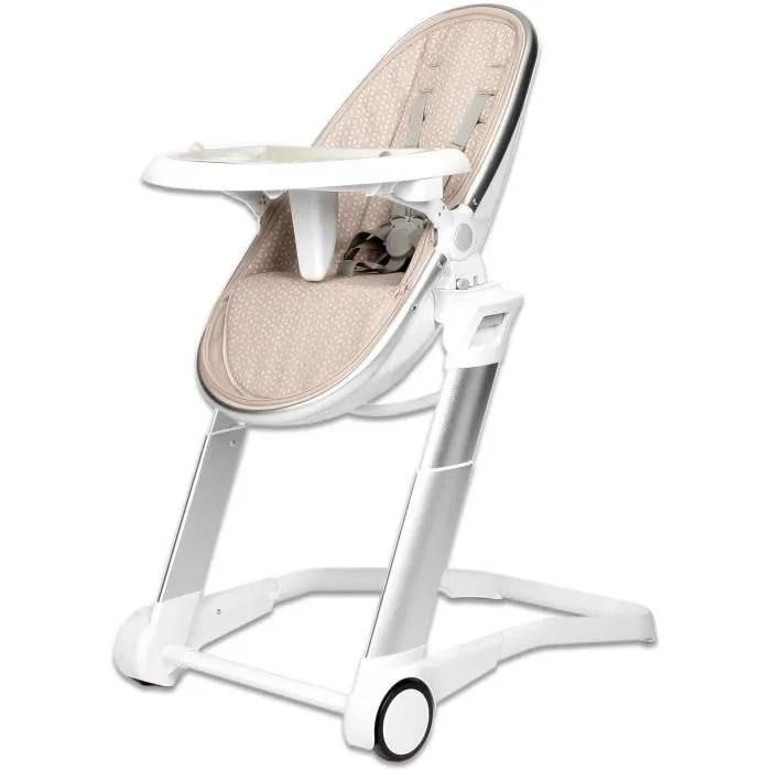 chaise haute design popsit beige de playxtrem multifonction moderne demontable rembourree et dehoussable
