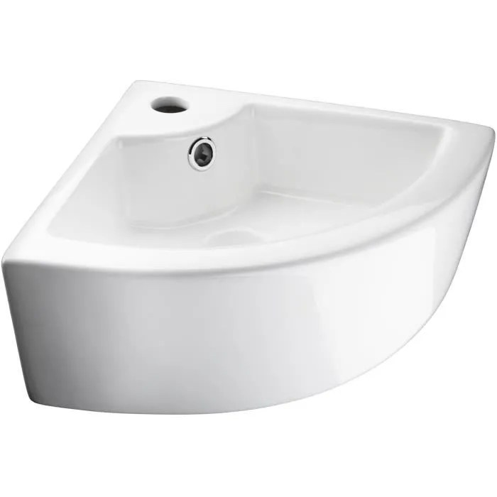 tectake vasque salle de bain d angle a poser ou mo