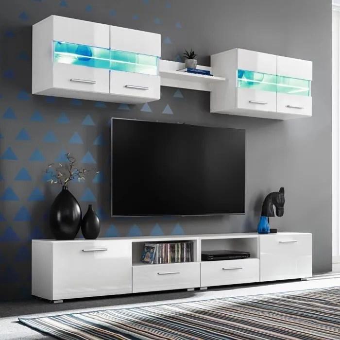 ensemble meuble mural tv 5 pcs 70 x 30 x 40 cmlumi