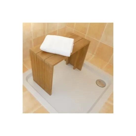 banc teck massif pour salle de bains 60