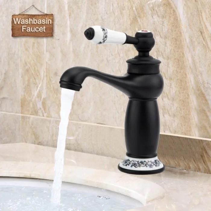robinet mitigeur de lavabo mitigeur robinet lavabo 24 16 5 5cm noir