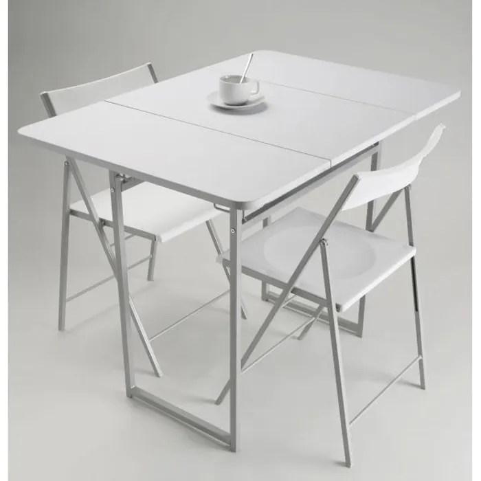 table de repas pliante 2 chaises jane