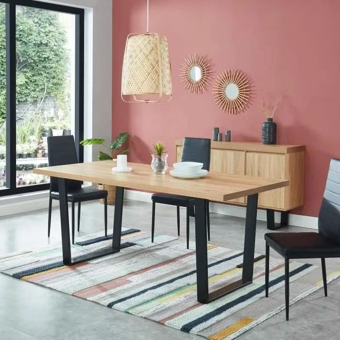 table a manger bois et metal