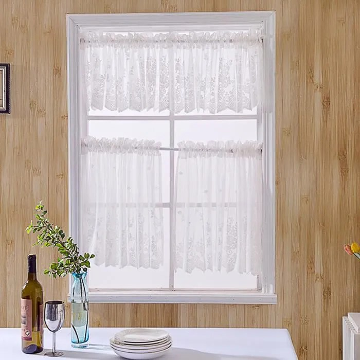 130 41 rideaux courts en dentelle rideau brise bi