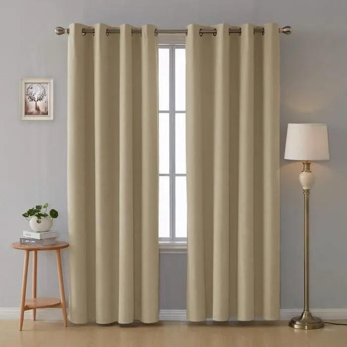 2 rideaux doublure isolante thermique