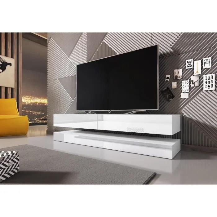 meuble tv fixe au mur
