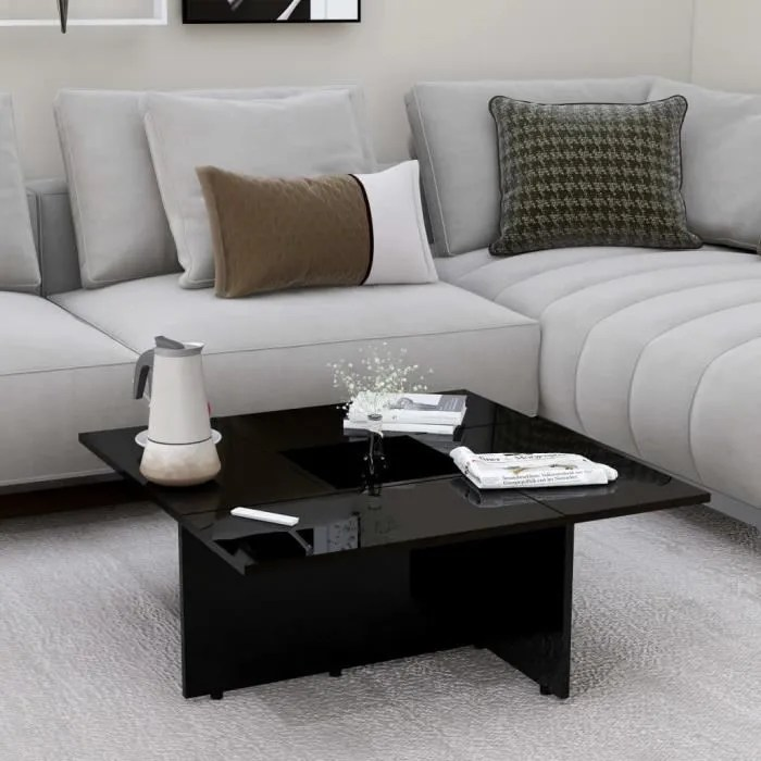 salon noir brillant 79 5x79 5x30 cm
