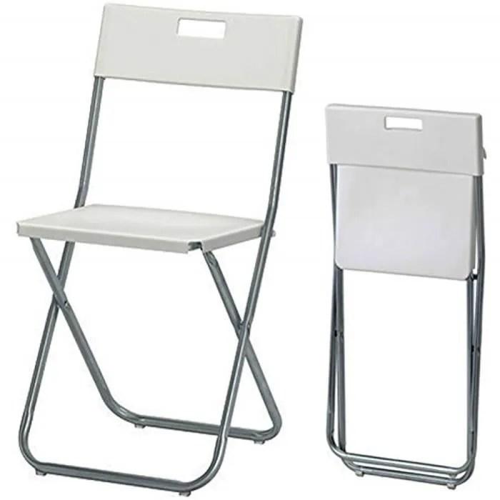 Ikea Gunde Chaise Pliante Blanc Cdiscount Maison