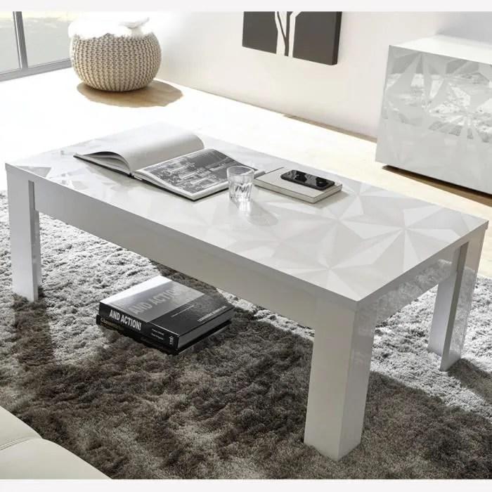 table de salon 120 cm blanche laquee design antonio l 122 x p 45 x h 65 cm blanc