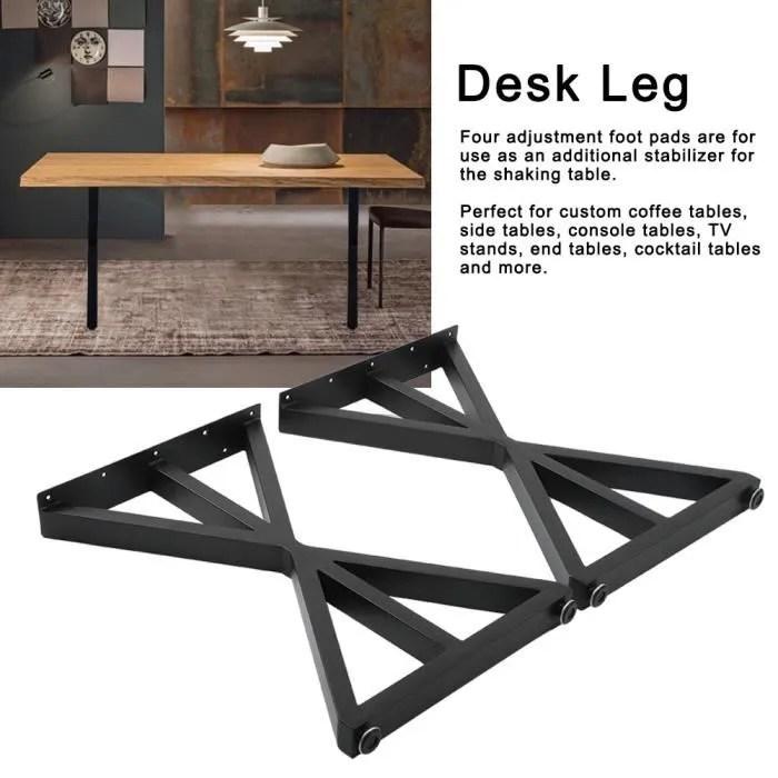 parfait ensemble de 2 pieds de table industriel p