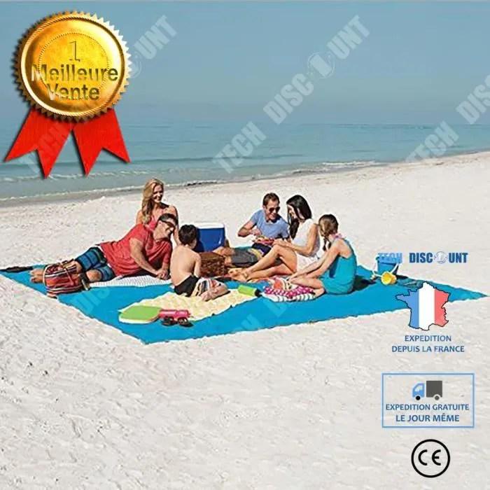 td tapis exterieur vent de sable voyage utilise