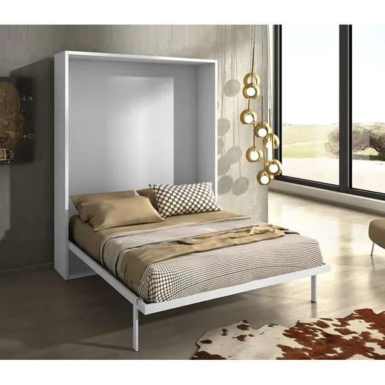 armoire lit escamotable joy chene blanc