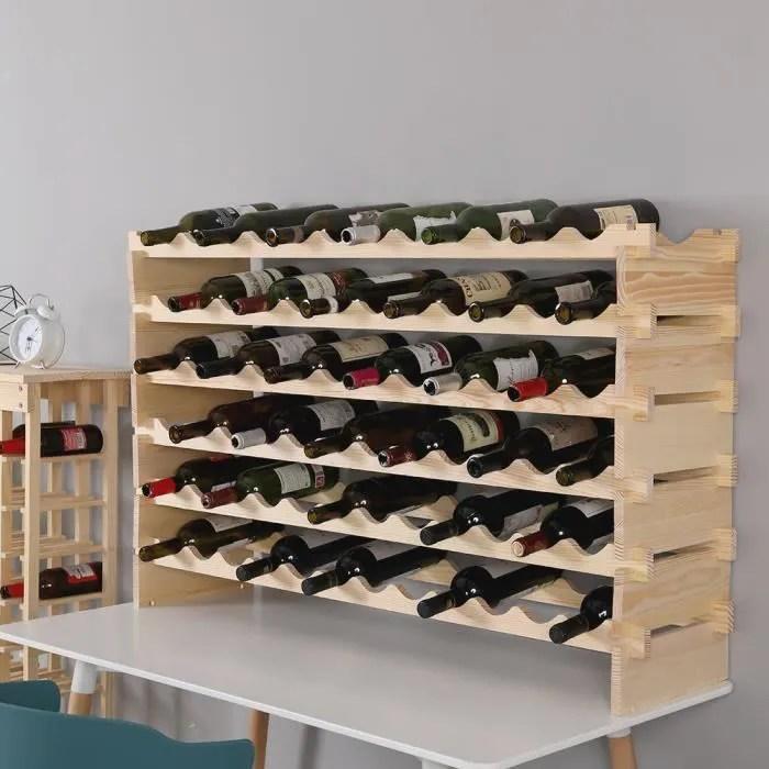 range bouteilles pour 72 bouteilles etagere a vin casier en bois de pin robuste modulable design elegant et simple