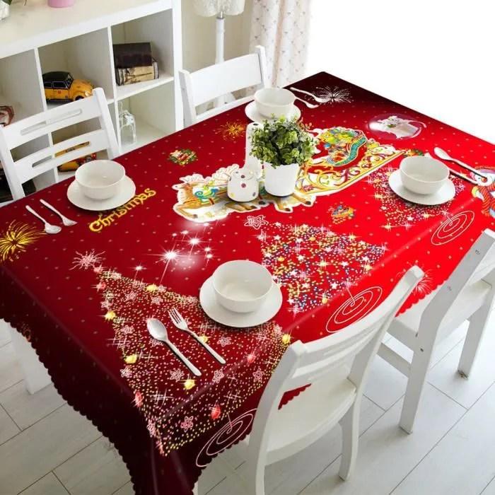 Nappe De Table Joyeux Noel Rectangulaire Imprime Tissu Pique Nique Party 50 130cm Nappe B96 Achat Vente Nappe De Table Cdiscount