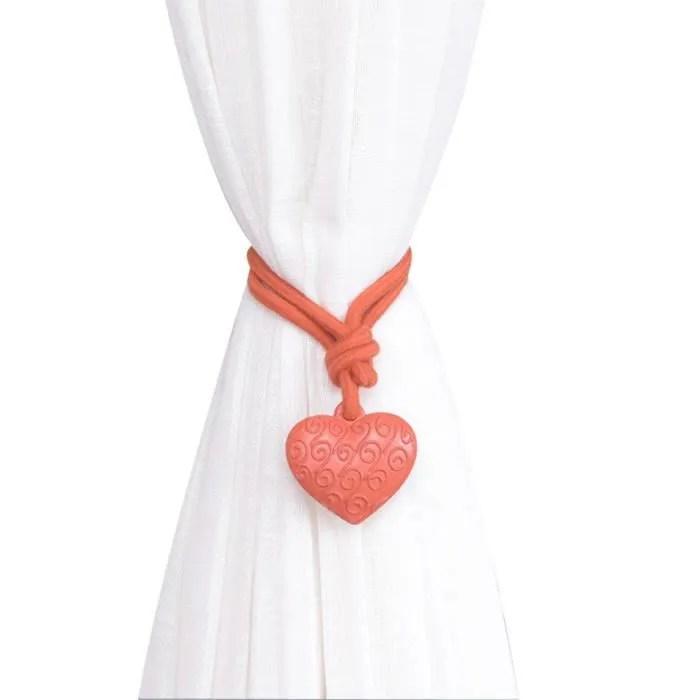 embrasse rideaux coeur orange