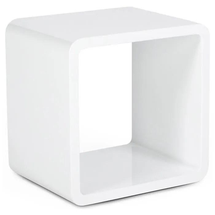 kub cube de rangement blanc laque