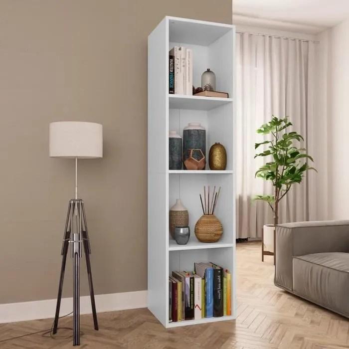 bibliotheque meuble tv contemporain salon blanc 36