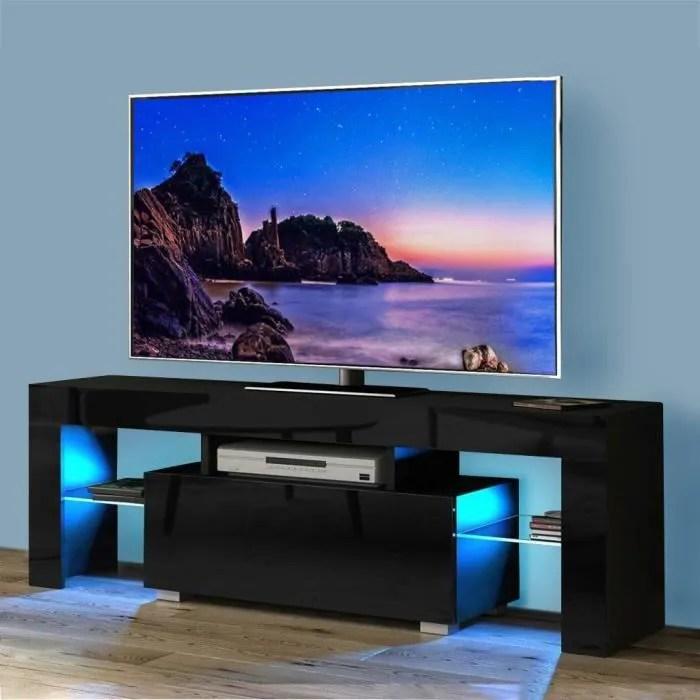 dripex meuble tv led brillant lumiere bleu m