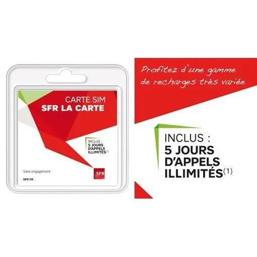 Carte Micro Sim Sfr Avec 5 Euros De Credit Offert Achat Carte Sim Pas Cher Avis Et Meilleur Prix Cdiscount