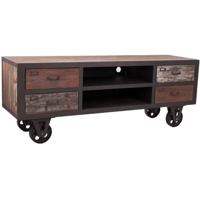 meuble tv vintage design industriel