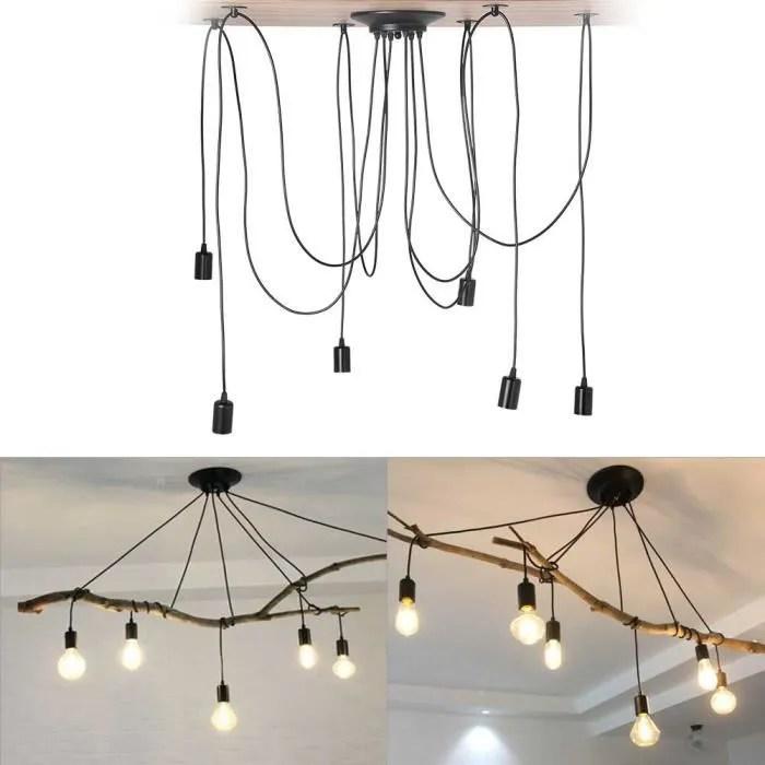 luminaire suspendu de style industriel vintage a 6