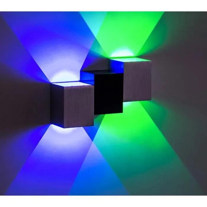 applique murale led 6w interieur lampe cube design