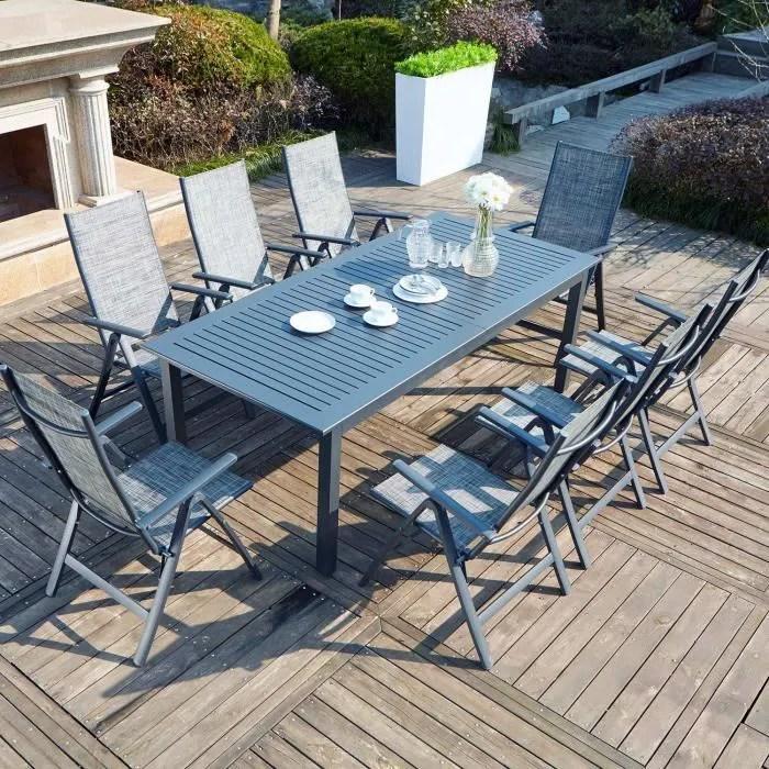 berana 8 table de jardin extensible