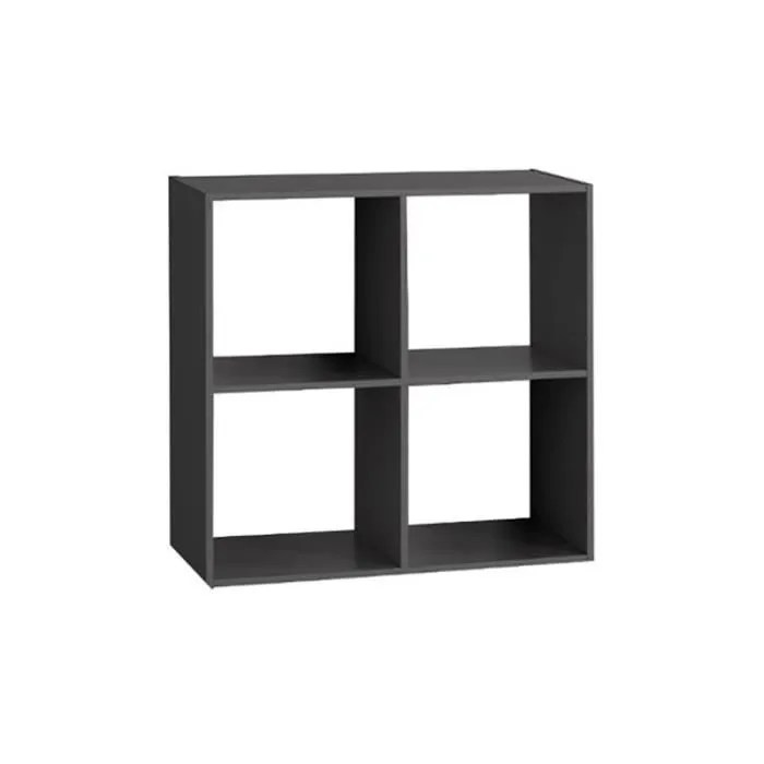 etagere bois 4 cases noir autres noir