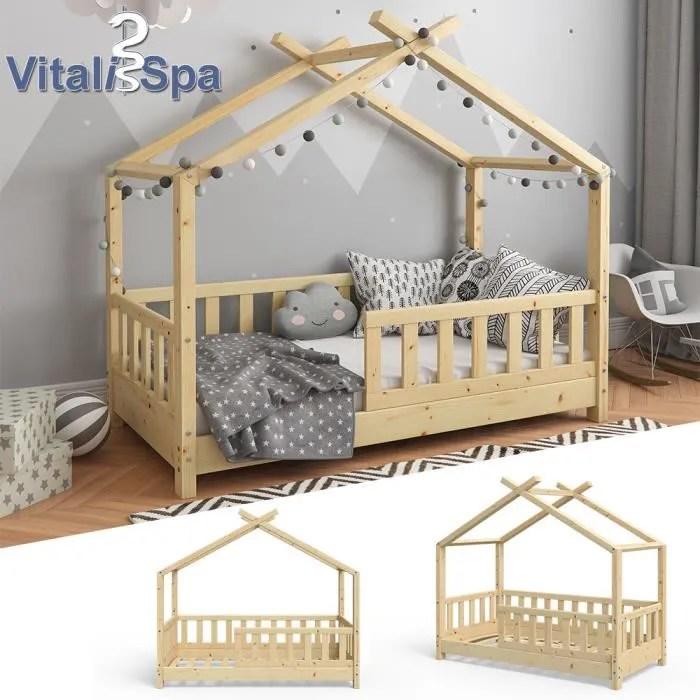 lit pour enfant vitalispa lit cabane design 70 x 140 barriere enfants bois cabane lit cabane