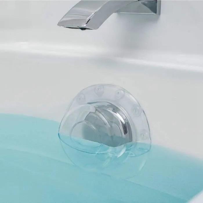 paquet de 2 baignoire trop plein couvercle de drain ventouse joint bouchon de baignoire pour bain plus profond pour drains de