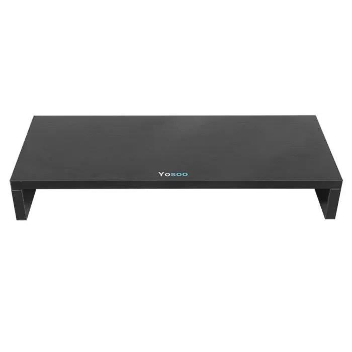support pour rehausseur moniteur stand ecran ordinateur portable en bois noir