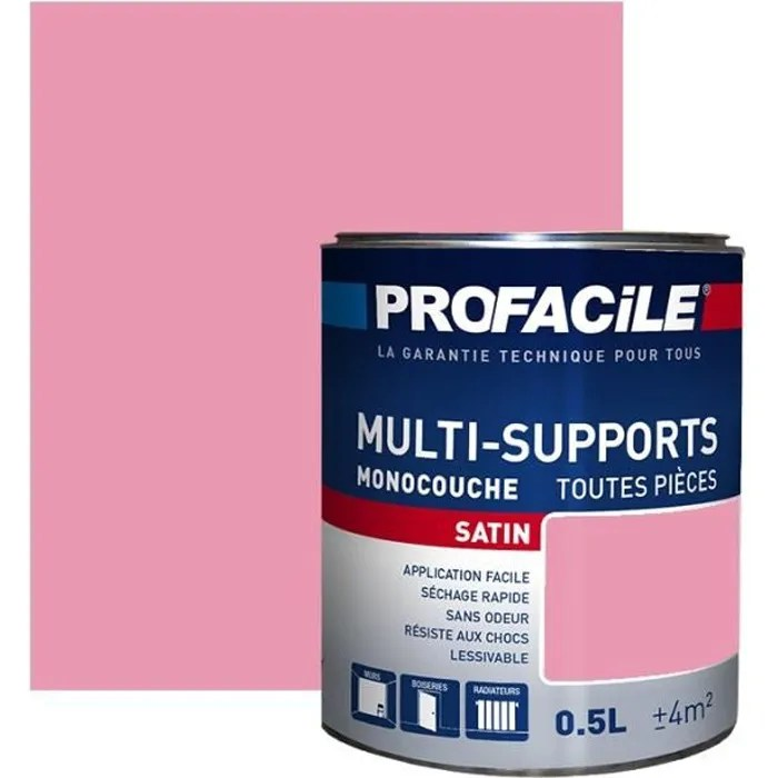 Peinture Multi Support Interieur Couleurs Profacile 0 5 Litre Rose Fushia Cdiscount Bricolage
