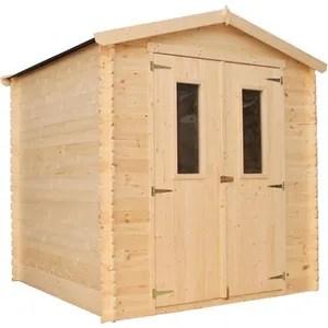 abris de jardin en bois avec plancher
