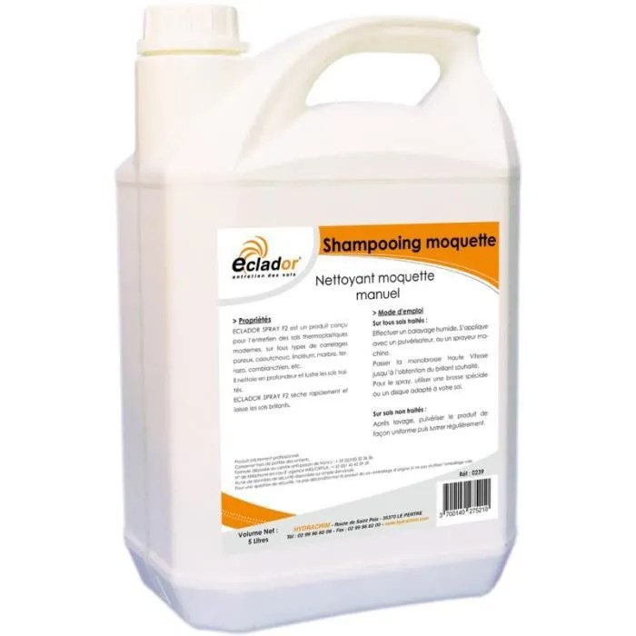 shampooing moquette et tapis monobrosse 5l