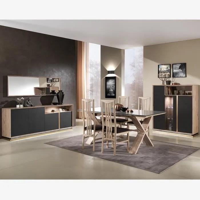 salle a manger moderne bois et gris anthracite tib