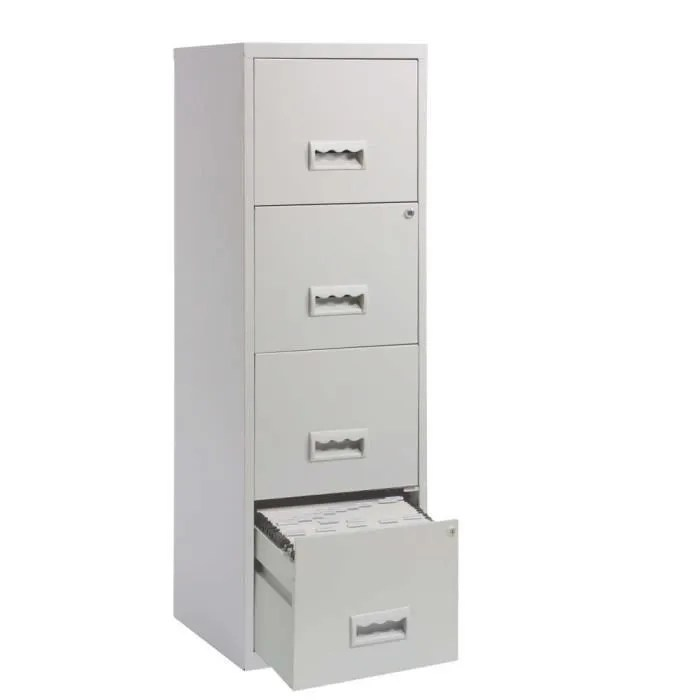 colonne de rangement 4 tiroirs en metal gris cl