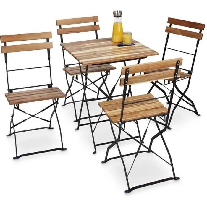 chaise jardin bois metal