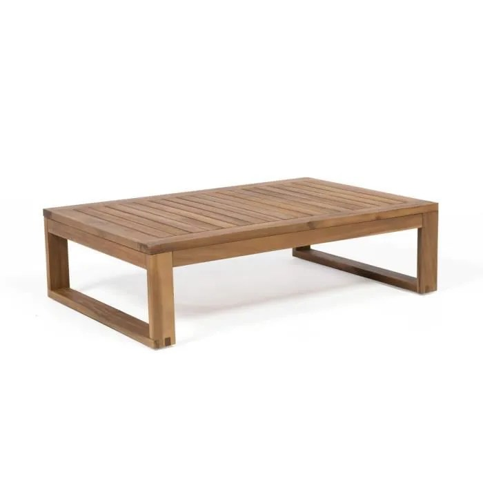 table basse de jardin rectangulaire en
