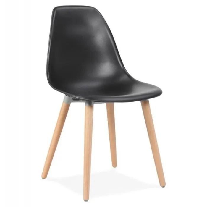chaise scandinave katarina 82cm noir paris prix