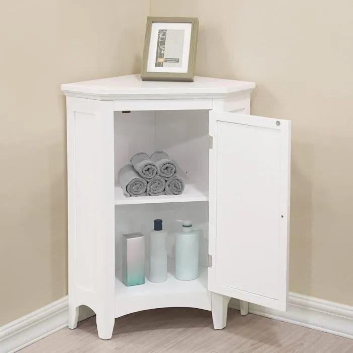 meuble d angle sur pieds blanc commode salle de ba