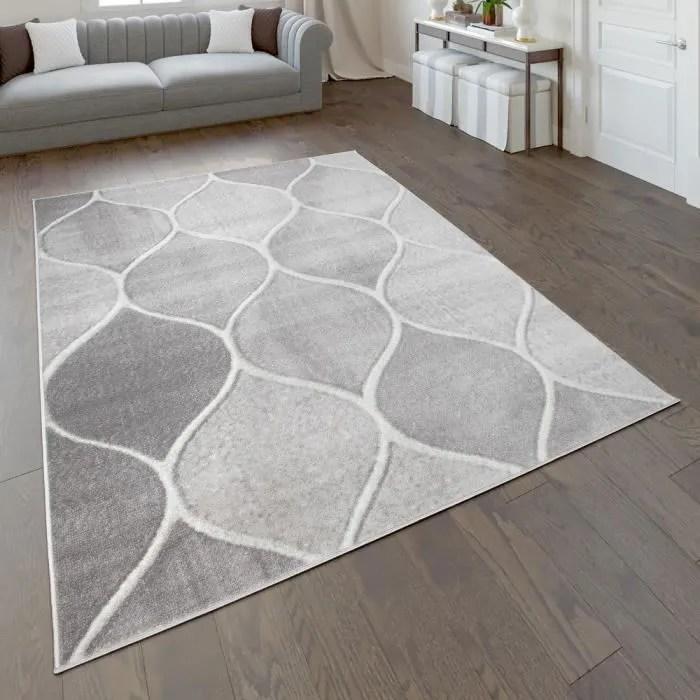 tapis tapis poils ras pour salon avec design orie