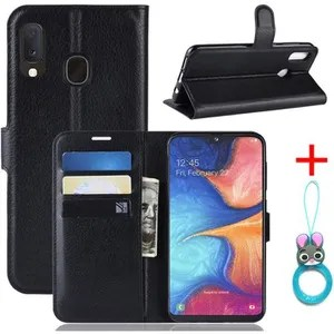COVER - CASE Cover Samsung Galaxy A20e Black in PU Leather with pro
