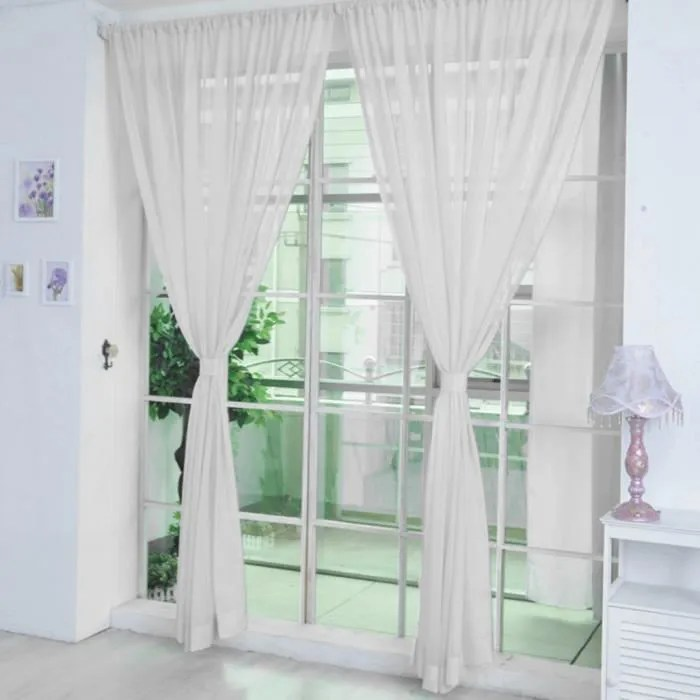 2 panneau cuisine rideau transparent porte fenetre
