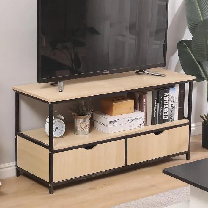 meuble tv industriel table basse detroit design i