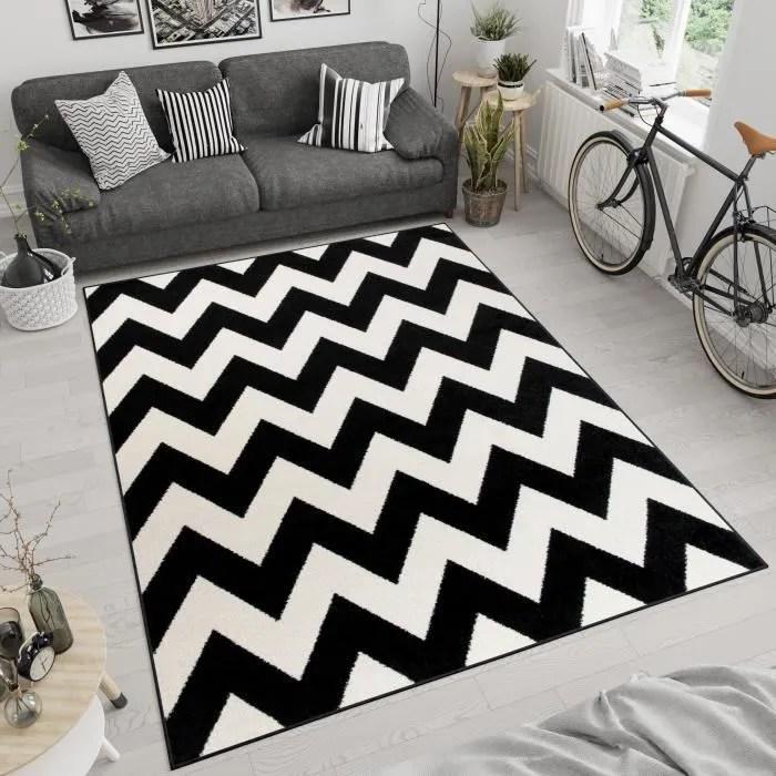 tapiso maroko tapis de salon design moderne noir b