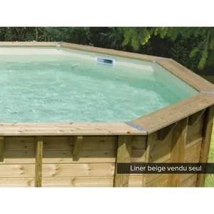 liner piscine bois octogonale