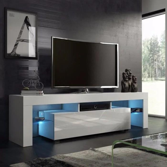 meuble tv blanc de le salon de la maison simple nordique moderne achat vente meuble tv meuble tv blanc de le salon cdiscount