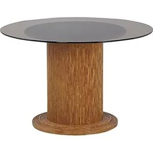 table ronde pied central 120 cm