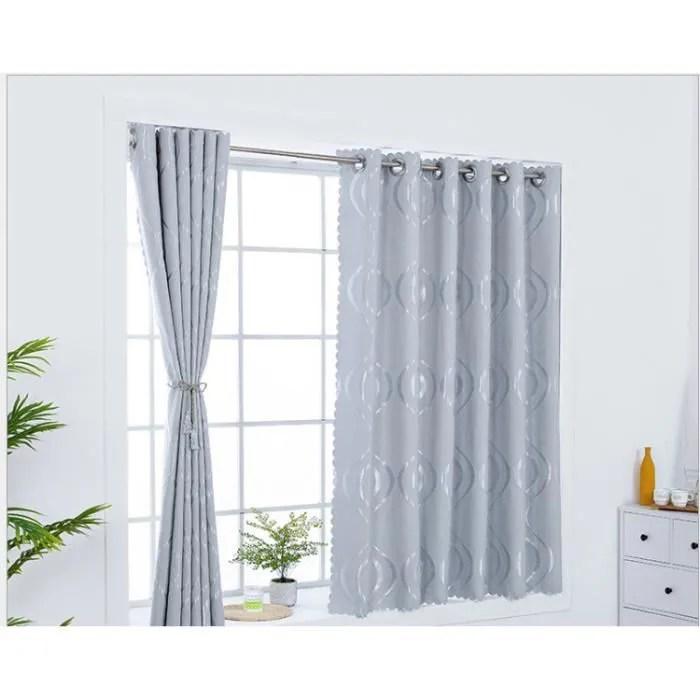 rideau simple en baie vitree rideau court produit